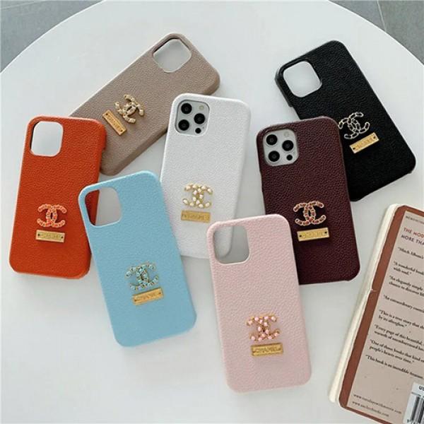 ハイブランド シャネル革製iphone13/12 mini 11 pro max xr/xs maxケース  韓国風セレブ愛用iphone 13/13 pro max/13 miniケース パロディ コピー