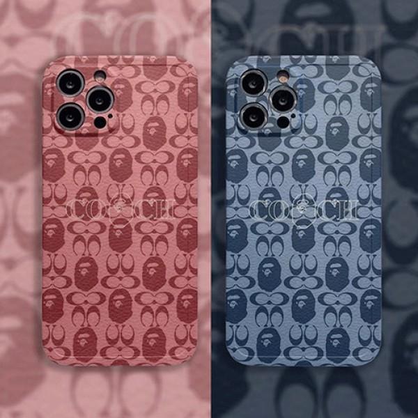 coach aape アイフォン13 プロ マックスケース iphone 13 mini pro 12 pro maxカバー激安ブランドコーチパロディケース