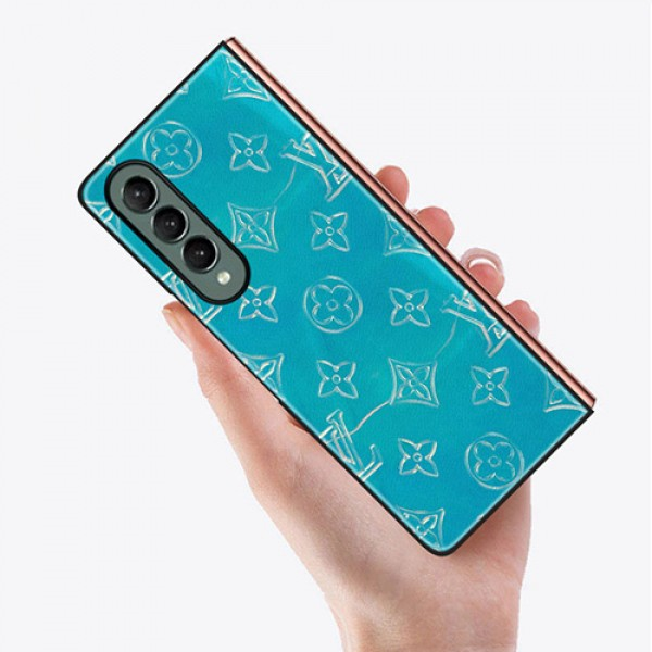 ルイヴィトン galaxy z fold 3 z flip3ケースカバーブランド 折り畳み式 携帯カバー 革製 lv ギャラクシー z fold3/2保護ケース