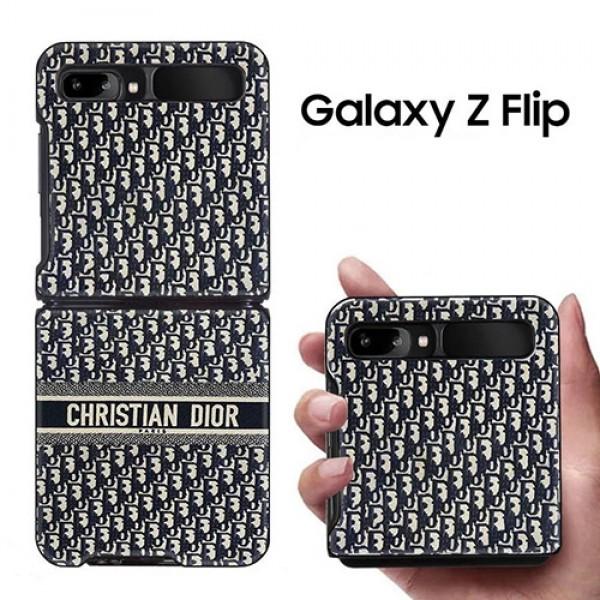 galaxy z flipケースディオールオブリーク柄ギャラクシー ゼット フリップ ケースau SCV47 SCG04Samsung 折りたたみスマートフォン Galaxy ZFlip 5g ハイブランドスマホケース