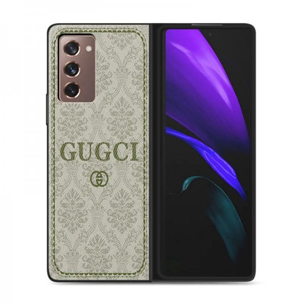 Gucci Galaxy Z Fold 2 5G ケース/カバー 革製ブランド サムスン ギャラクシーSamsung Galaxy Z Fold2 5Gケースグッチ おしゃれ カバー 耐衝撃 スマホケース ケース