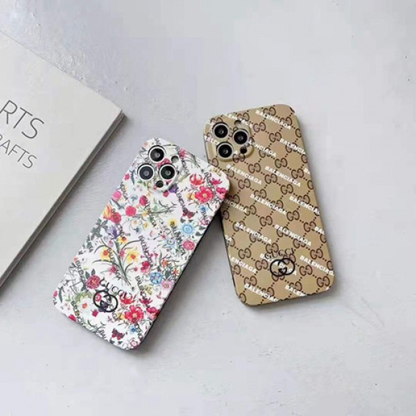 ハイブランド gucci バレンシアガコラボケース コピーiphone 13/12 pro/13 pro maxカバー メンズ レディース韓国風iphone11/11 pro maxジャケットスマホケース コピー