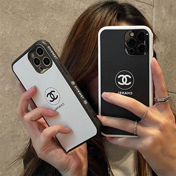 シャネルペアケースアイフォン13 pro max 13 mini ケースブランドコピーブラックホワイトchanel ペアお揃いカバーiphone13/12/12 pro maxケースカバー