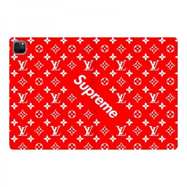supreme+ルイヴィトンコラボ赤色ipad air4 ipad pro12.9/11 2020ケース ipad mini5/4/3/2/1 ipad air 3/2/1 iPad Pro10.5/9.7カバー 手帳型 メンズ レディース