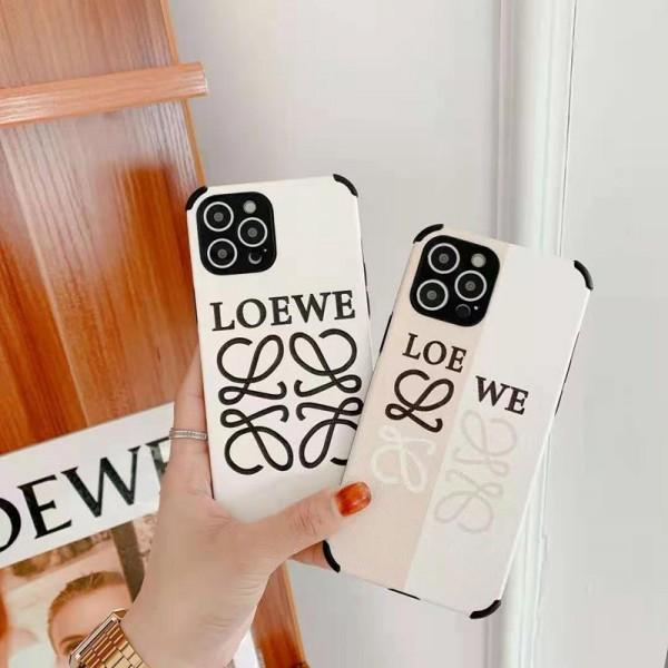 LOEWE/ロエベ iphone13/12/11/xs/xr/8/7ケース メンズレディース可愛いブランド風パロディケースiphone xr/xs maxケースチェーンつき芸能人愛用可愛い