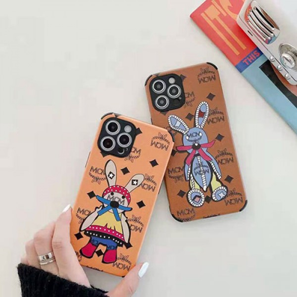 エムシーエム 人気ブランド iphone 12/12 pro/12 pro maxケース ウサギ可愛い iphone11/11pro maxケース個性 iphone x/xr/xs/xs maxケース ins風