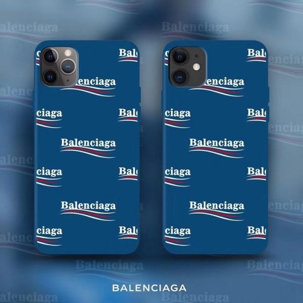 バレンシアガ スマホケース ソフト 青い  iPhone12 pro max iPhone12 mini iPhone se 第2世代 iPhone11 Pro iPhone8 7 se2 iphone xr/xs maxケース iphone x/8/7 plusケースファッション大人気