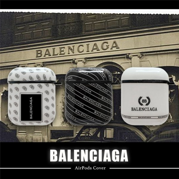 Balenciaga バレンシアガ ブランドエアーポッズ プロ収納ケースAir pods1/2/3ケース 耐衝撃 落下防止Airpods pro3ケース メンズ レディース Air pods proケース 防塵 落下防止