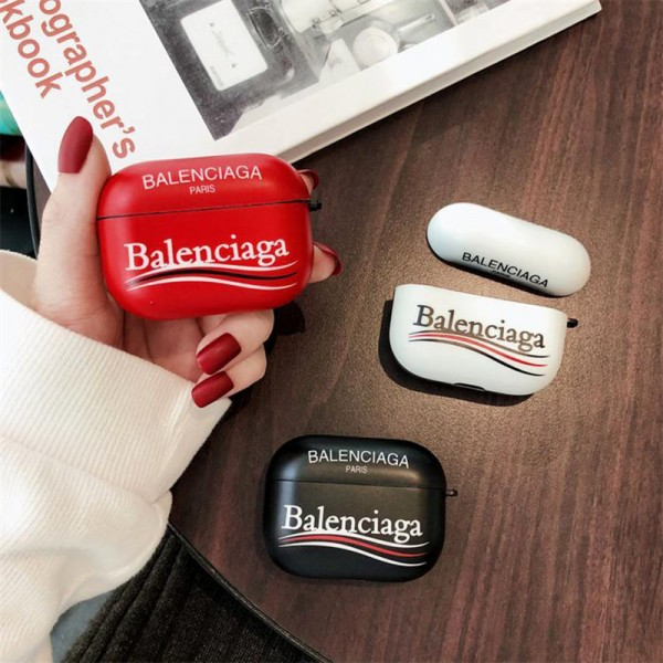 Balenciaga バレンシアガ ブランドエアーポッズ プロ収納ケースAir pods1/2/3ケース 耐衝撃 落下防止Air pods 3/2/1ケースブランドAir pods proケース 防塵 落下防止