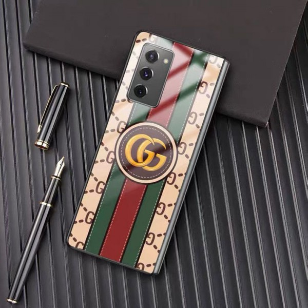 Gucci/グッチ ペアお揃い galaxy z fold 2ケース ハイブランド可愛い au レディース  おまけつきモノグラム galaxy Z Flipケース ブランド