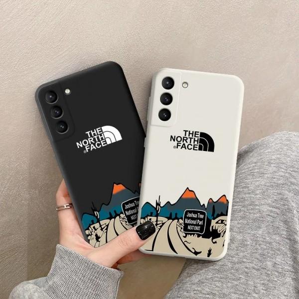TheNorthFace ペアお揃い Galaxy s21/s21ultraケース iphone12mini/12promax/11/xs/x/8/7ケースins風 かわいいGalaxy s10/s20+ケースブランドiphone 12ケース ファッション