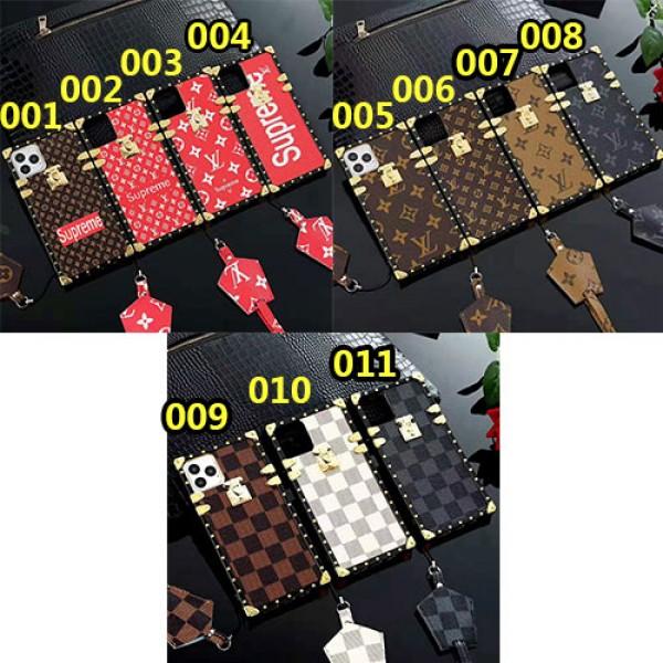 シュプリーム x ヴィトンコラボ iphone12/12pro max galaxy s20/s20+/s10ケース ブランドiphone se2/xr/xs/xs maxケース iphone x/8/7 plusケースジャケット型 ストラップ付きファッションカッコイイ