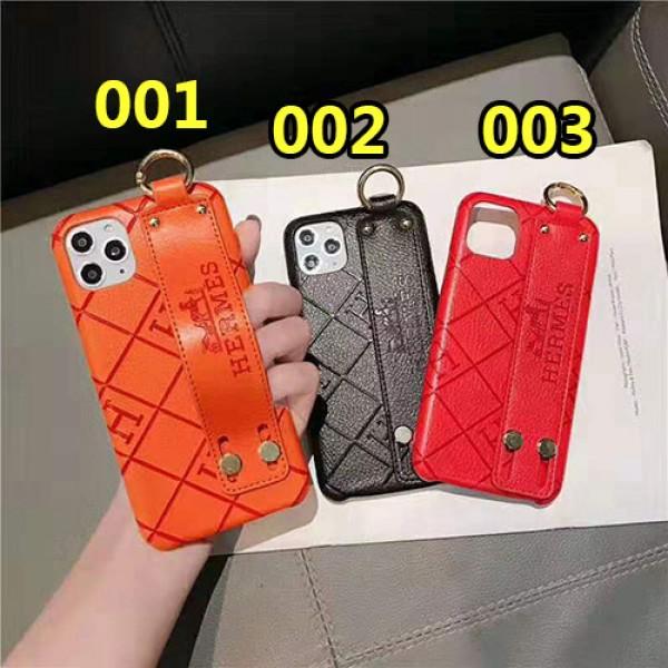hermes エルメス iphone 12 mini/12 pro/12 pro max/se2/12/11/11pro maxケースブランド iphone xr/xs maxケース ハンドベルト付きアイフォン x/8/7 plusケース高級ファッションオシャレ