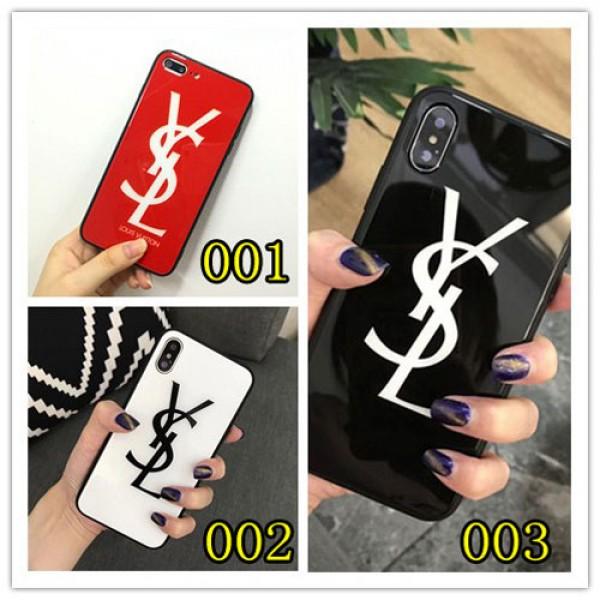 YSL iPhone 12/12 pro max xperia 5/1/10 ii ケース galaxy s10/s20+ huawei p30 iPhone xs/xs plus/xr/11 proケース イヴサンローラン Iphone x/8/7 plusスマホケース galaxys20/s9/s10 plusケースブランド Iphone6/6s Plus Iphone 11 pro max/6/6s/se2カバー ジャケット 簡約 アクリル製