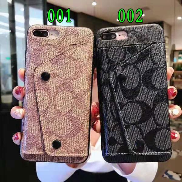 coach iPhone 12/12 pro max/xr/xs max/xs/11pro maxケース コーチ iphone x/8/7スマホケース galaxy s10/s10e/s9 plusケースブランド Iphone12 pro/12 max/12 mini/6/6s Plus Iphone6/6sカバー ジャケット カード入れ