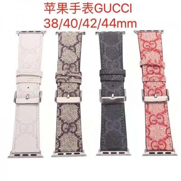 Gucci/グッチ Apple Watch 6/5/4/3ベルト 交換用アップルウォッチ6/se 2020 バンド ブランド レディースバンド人気かわいい 38mm/40mm/42mm/44mm