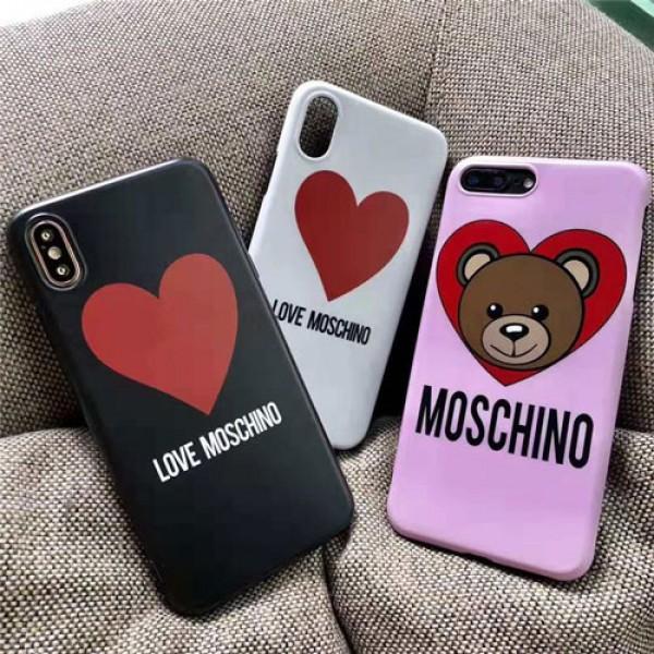 moschino iPhone xr/xs max/xsケース モスキーノ iphone x/8/7/se2スマホiphone 12 2020ケース ブランド Iphone6/6s Plus Iphone6/6sカバー ジャケット 心絵柄