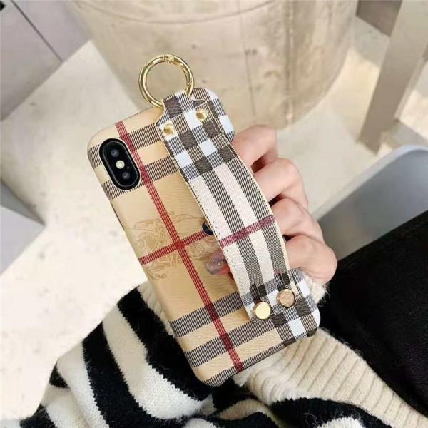 Burberry iPhone 12/12pro/12promaxケース バーバリー iphone x/8/7スマホケース ブランドIphone6/6s Plusカバー ジャケット カード入れ ハンドベルト付き
