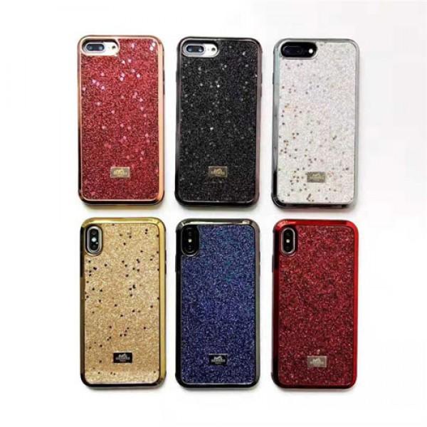 hermes iPhone xr/xs max/xsケース エルメス iphone 12pro max/8/7/se2スマホケース ブランド Iphone6/6s Plusカバー ジャケット キラキラ