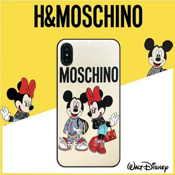 moschino iPhone xr/xs max/xsケース モスキーノ iphone x/se2/8/7/6スマホiphone 12 2020ケース ブランド Iphone6/6s Plusカバー ジャケット カートンギャラクター絵柄