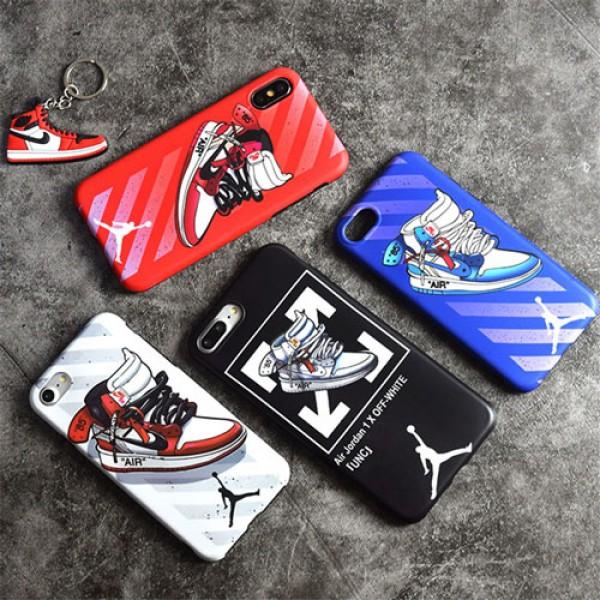 jordan iPhone xr/xs max/xsケース nike iphone 12/12pro/12pro max/8/7/se2スマホケース ブランドoff white Iphone6/6s Plusカバー ジャケット スニーカー絵柄