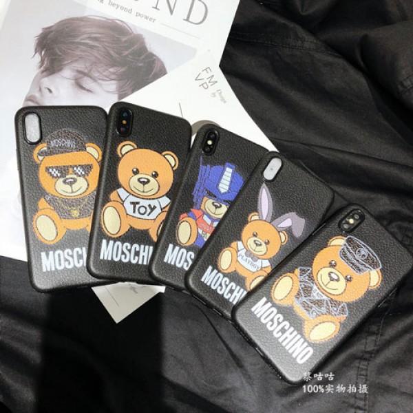 moschino iphone12/12mini/12pro/12promaxケース モスキーノ iphone x/8/7/se2/11proスマホiphone 12 2020ケース ブランド iPhone xr/xs max/xsカバー ジャケット 熊絵柄