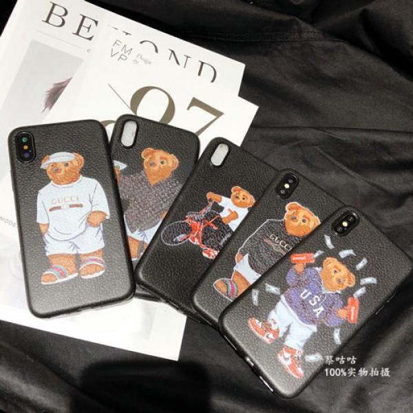 supreme iphone 12 2020ケース ルイヴィトン iphone x/se2/8/7スマホケース ブランドgucci Iphone6/6s Plus Iphone6/6sカバー ジャケット 熊絵柄