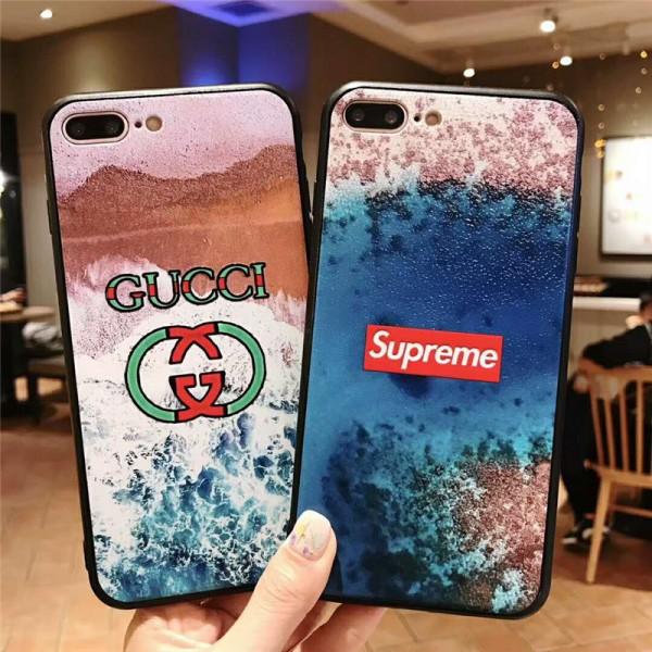 supreme gucci iPhone121/12pro/12promaxケース グッチ iphone  xr/xs max/xs/8/7/se2スマホケース ブランドpepsi Iphone6/6s Plus Iphone6/6sカバー 渚絵柄 ジャケット