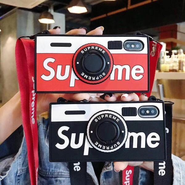 supreme iphone 12 2020 iPhone xr/xs max/xsケース シュプリーム iphone x/8/7/se2スマホケース ブランド Iphone6/6s Plusカバー シリコン製 ジャケット ストラップ付き