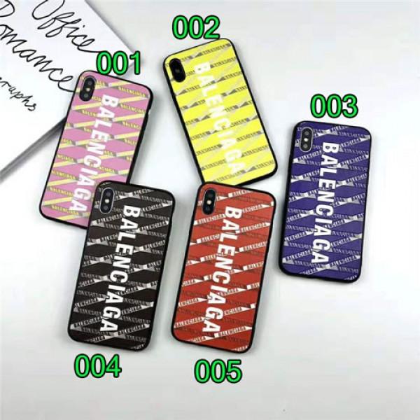 Balenciaga バレンシアガ iphone 12/12 pro max/11xr/xs maxケース潮流個性 iphone x/12ケース ファッションブランドアイフォンiphone 12 pro max/ 8/7 plusケース 男女兼用