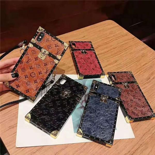 lv ルイヴィトン iphone xr/xs maxケース ブランド iphone 12/12pro/12pro max/se2/8 plusケーストランク 復古風 アイフォン xsマックスケース ファッションおしゃれストラップ付き