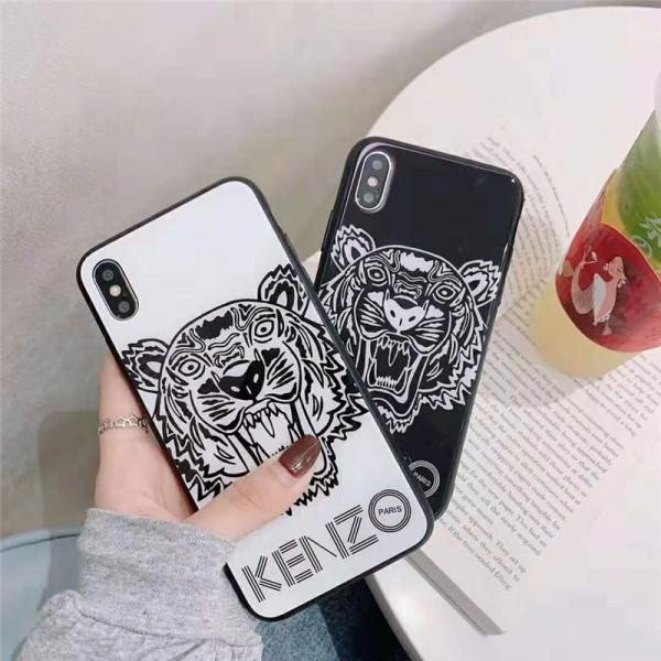 ケンゾー kenzo iphone xr/xs maxケース 虎頭付き アイフォン xs/xケース ブランドカッコイイ iphone se2/8/7 plusケースファッションオシャレ 人気ペア