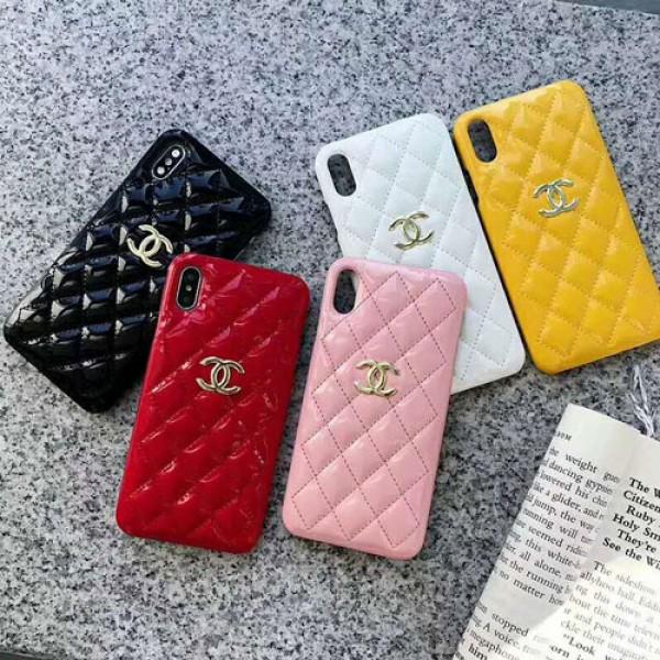 シャネル chanel iphone12/12mini/12pro maxケースブランドiphone xr/xs maxケース女性向け エナメル製 アイフォン  x/8/se2/7 plusケースファッション優雅