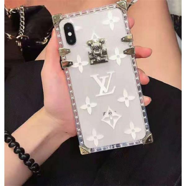 lv ルイヴィトントランク iphone 12/12pro/xr/xs maxクリアケース ブランド透明 iphone 12/11 maxケーストランクデザイン モノグラム アイフォン se2/8/7 plusケースファッションお洒落