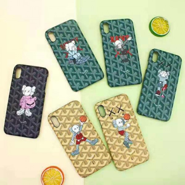 GOYARD ゴヤール iphone xr/xs maxケース ブランド iphone xi/11R/12pro maxケース 個性KAWS iphone x/8/7/SE2 プラスケース ファッション人気キャラクターケース