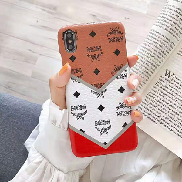 MCM エムシーエム iphone11/11pro maxケース ブランド iphone 12 2020ケース個性Galaxys10/s9/note10/note9ケースおしゃれ混色 iphone x/8/se2/7 plusケース