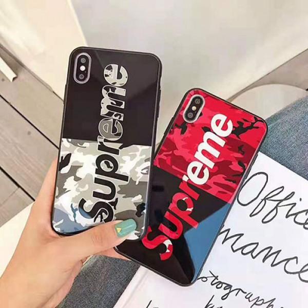 supreme シュプリーム iphone12/12pro maxケース お洒落迷彩 iphone xr/xs  maxケース男女兼用個性iphone x/8/se2/7 plus/11proケースジャケット型 ファッション潮流人気