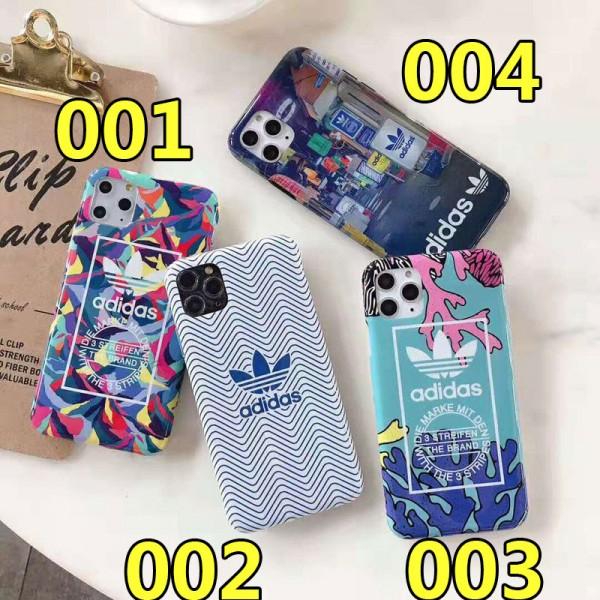 Adidas iphone12/12 pro max/12pro maxケースアディダス iphone xr/xs maxケース スポーツ風 ブランド iphone x/8/7 plus/11proケース 個性お洒落 男女兼用