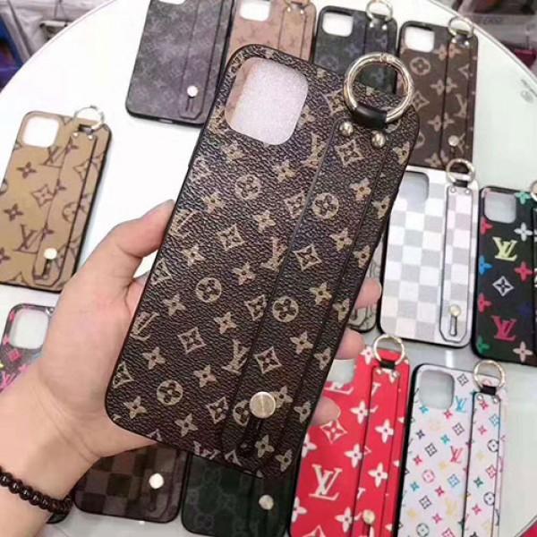 Lv Gucci ペアお揃い アイフォン11ケース iphone11/11pro max/se2ケース男女兼用人気ブランド ビジネス ストラップ付きアイフォンiphone 12/12pro/8/7 plusケース ファッション経典 メンズ