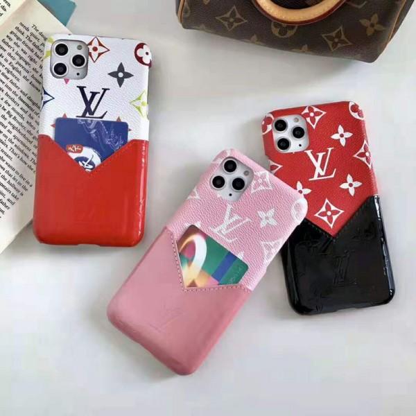 ルイヴィトン iphone11/11pro maxケースlv ブランドアイフォンXr/xs maxケース galaxy s10/note10 plusケースカードポケット付き お洒落モノグラムiphone x/se2/8/7 plusカバー
