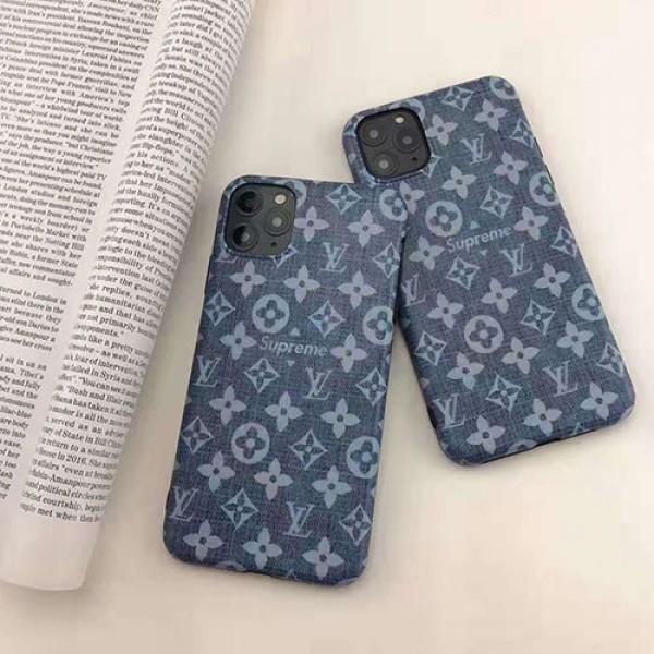 iphone 12/12 Pro /12 Pro Max対応 即納 supreme x ヴィトンコラボ iphone11/11pro maxケース ブランド iphone xr/xs maxケース デニムモノグラム 復古風 アイフォン x/se2/8/7 plusケースファッションお洒落人気