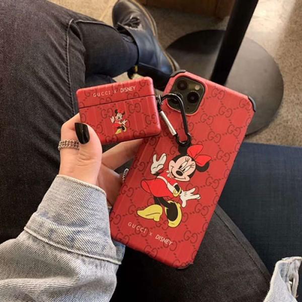 Gucci グッチ Disney ディズニーコラボ ブランド iphone12/12pro maxケース かわいいペアお揃い アイフォン11ケース iphone xs/x/8/7ケースiphone xr/xs max/11proケースブランドアイフォン12カバー レディース バッグ型 ブランド