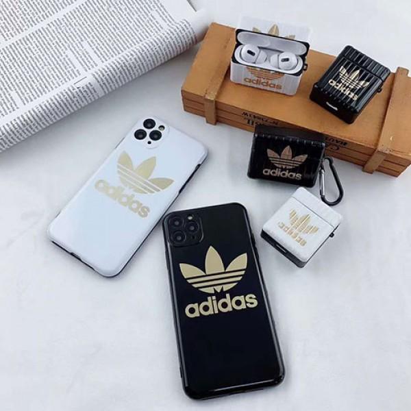 Adidas アディダスiphone12/12pro Air pods 3/2/1 ペアお揃い アイフォン11ケース iphone xs/x/8/7ケースレディース アイフォンiphone xs/12/8 plus/se2ケース おまけつきiphone xr/xs max/11proケースブランドアイフォン12カバー レディース バッグ型 ブランド Air pods proケース 防塵 落下防止