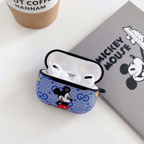 Gucci グッチ Disney ディズニーコラボ ブランドエアーポッズ プロ収納ケースAir pods1/2/3ケース 耐衝撃 落下防止Airpods pro3ケース メンズ レディースAir pods proケース保護 軽量
