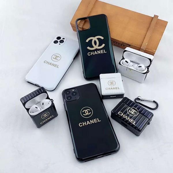 Chanel シャネル ブランド iphone12/12pro max/se2ケース Air pods1/2/ proケース 耐衝撃 落下防止Airpods pro3ケース メンズ レディース ペアお揃い アイフォン11ケース iphone xs/x/8/7ケース Air pods proケース保護 軽量Air pods 3/2/1ケースブランド