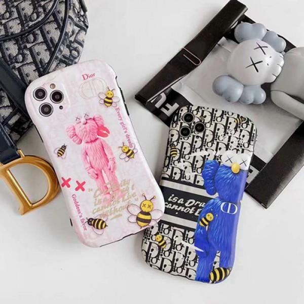 Dior ディオール iphone 7/8 plus/se2ケースほぼ全機種対応 iphone x/xr/xs/xs maxケース韓国風激安Kaws iphone 11 アイフォン 12pro maxケースジャケットスマホケース コピー