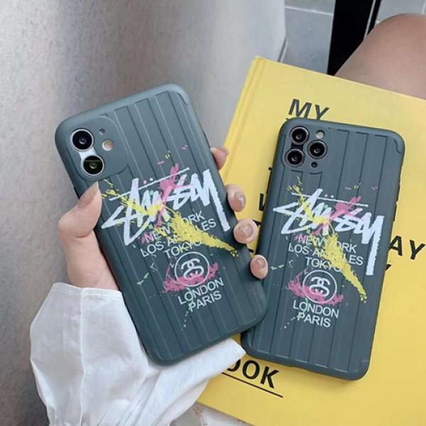Stussy/ステューシーiphone 12ほぼ全機種対応iphone 11/11 pro/11 pro max xs/8/7 plus/se2カバー メンズ レディースセレブ愛用全機種対応ハイブランドケース パロディ