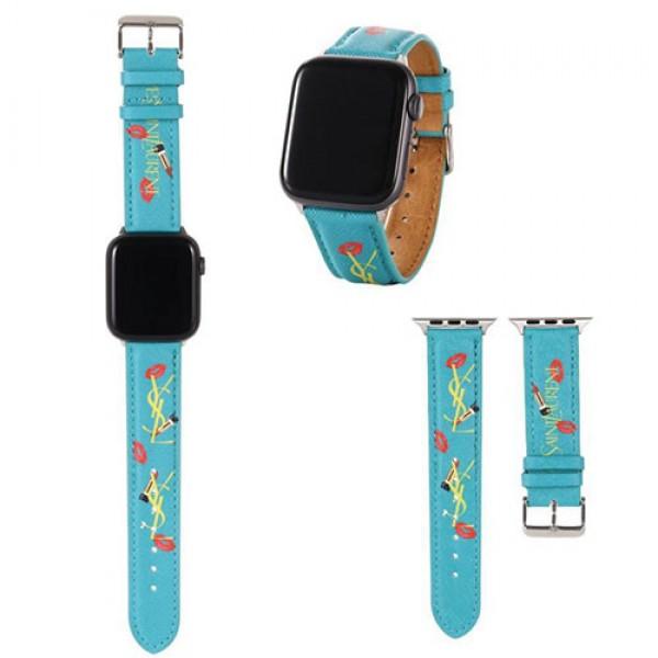 レディース イヴ・サンローランysl Apple Watch 6/se 2020バンドアップル ウォッチ6/5/4/3/2/1バンド 宛時計ベルト 女性人気Ysl お洒落 サイズ:38mm、40mm、42mm 、44mm