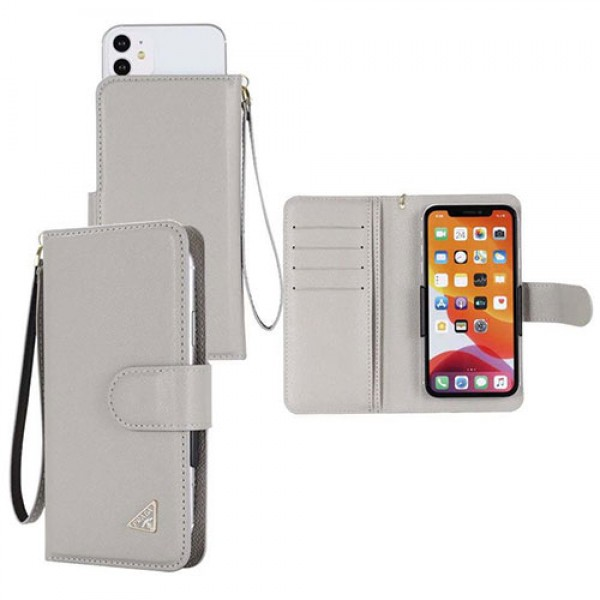 【汎用型6.7インチ以下全機種対応 スライド型】Prada/プラダ iphone 12/12 pro/12 pro max/11 pro max/se2 galaxy note20ケース ペアお揃い xperia 5ii/1ii/10iiケース 人気ブランド Galaxy s10/s20+ケース 手帳型ケース 高級 人気 アイフォン12/11ケース ブランド レディース