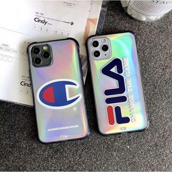 championハイブランドiphone 12/12 pro/12 pro maxケース FILAコピーiphone 11/11 pro/11 pro maxケース 韓国風セレブ愛用全機種対応ハイブランドケースiphone 7/8/ se2 パロディ